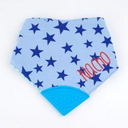 Bandana Mordedor Azul Personalizada