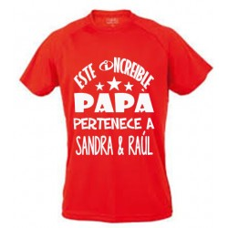 Camiseta Este papá increible pertenece a...