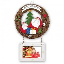 Colgante navideño para puertas con portafotos