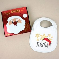 Caja mas babero navidad personalizado