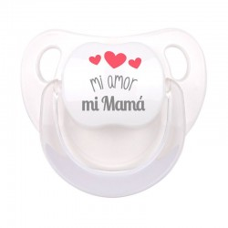 Chupete Baby Deco Blanco Mi amor, mi Mamá
