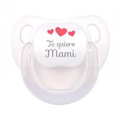 Chupete Baby Deco Blanco Te Quiero Mami