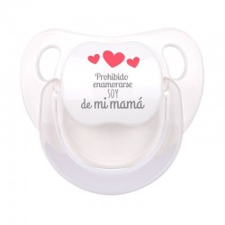 Chupete Baby Deco Blanco Prohibido enamorarse soy de mi Mamá