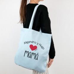 Bolso algodón orgánico personalizado Supermami de (nombre niño/a)