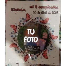 Chapa Personalizada Cumpleaños con Foto