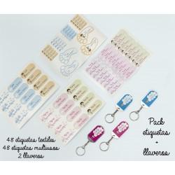 Pack Etiquetas + llavero