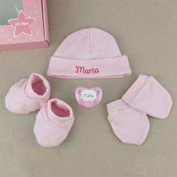 Cajita Set Recién Nacido Rosa Personalizado