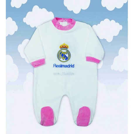 Pijama Real Madrid blanco-rosa
