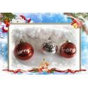 Pack de 6 Bolas árbol de navidad con nombre