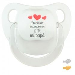 Chupete Baby Deco Blanco Vas a ser ¡PAPÁ!