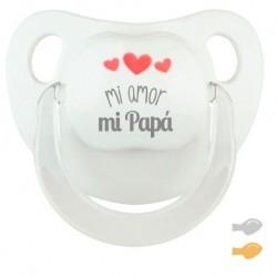 Chupete Baby Deco Gris Te quiero mucho Papá
