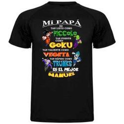 Camiseta Mi papá es tan listo .. de goku