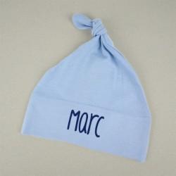 Gorrito duende personalizado azul