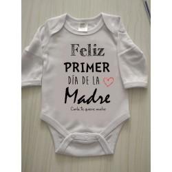 Body Feliz primer día de la madre personalizado