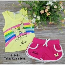 Conjunto infantil globo bañador más camiseta personalizada