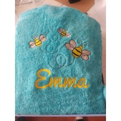 Albornoz infantil abejas personalizado