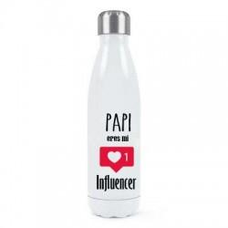 Botella termo Papi eres mi influencer