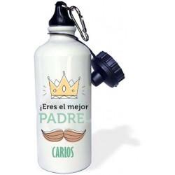 Botella agua eres el mejor padre personalizada