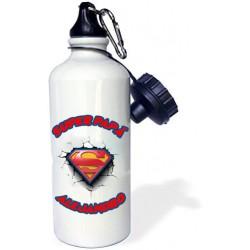 Botella agua Superpapá personalizada