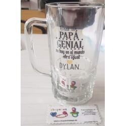 Jarra de cerveza Eres un Papá genial no hay en el mundo otro igual personalizada