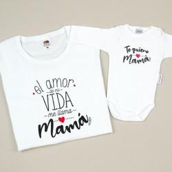 Pack 2 Prendas Mamá Batería Baja (Nombre hijo/a)