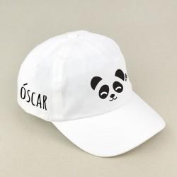 Gorra Junior Panda Blanca personalizada