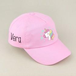 Gorra Junior Estrella Rosa o Blanca personalizada
